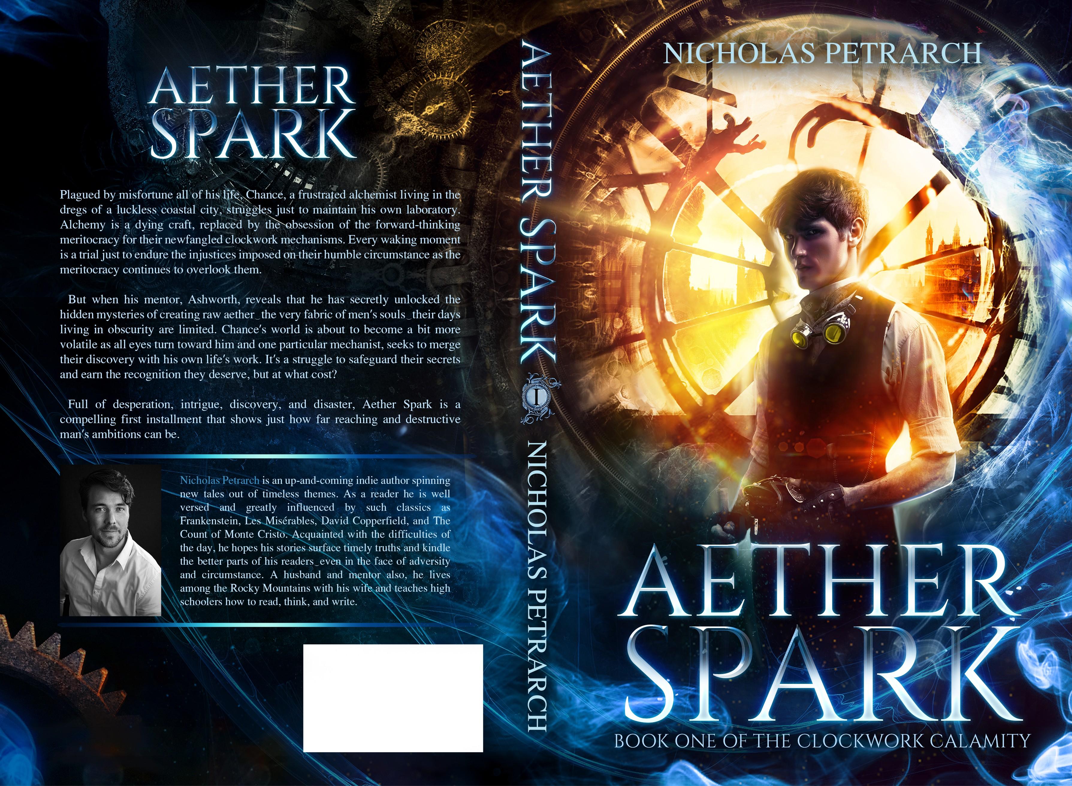 Create a steampunk/sci-fi/thriller book cover (first of a series)