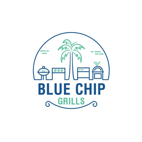 Blue Chip Grills Logo Design Project