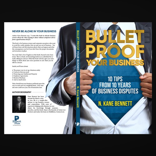 BULLET PROOF YOUR BUSINESS | BOOK COVER DESIGN