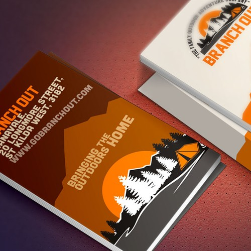 A new business Card for an Outdoor Adventure Company