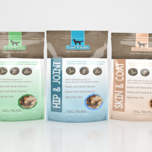 Dog cookies - Create package for natural and functional line of dog cookies