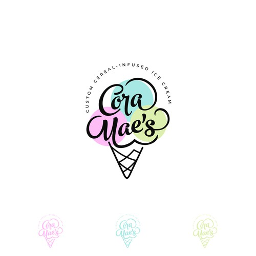 Logo for Cora Mae's Ice Cream