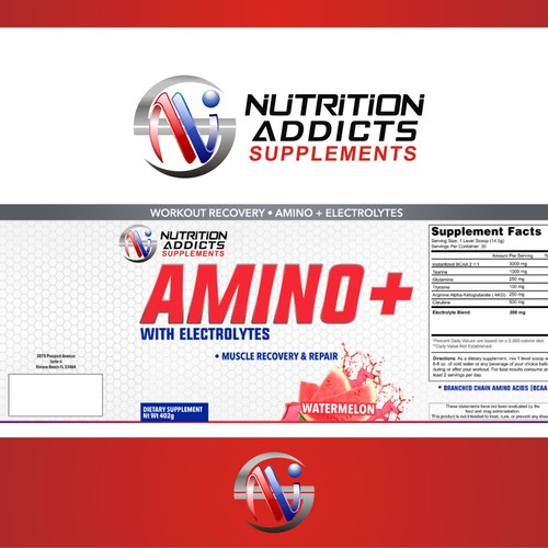 Logo nutrition and fitness supplements or healthy