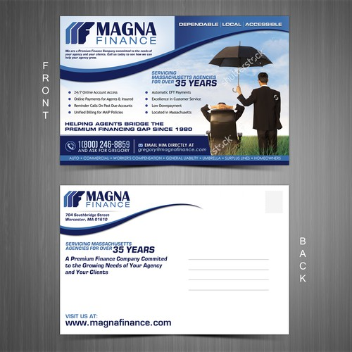 Create an eye-catching business-to-business Post Card