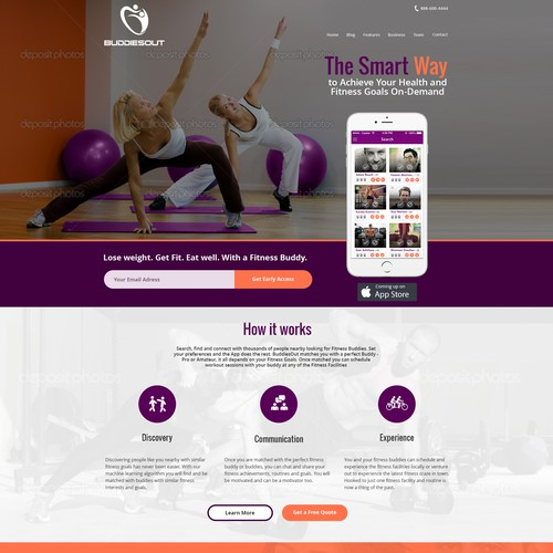 Create a fascinating website for social Fitness enthusiasts