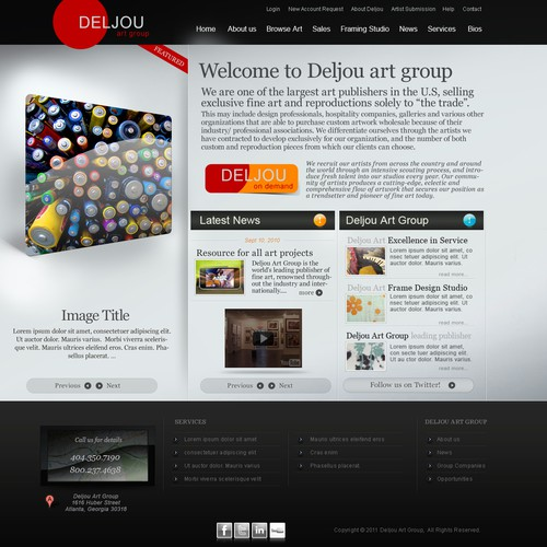 Stylish, Contemporary Design for Largest Art Publisher