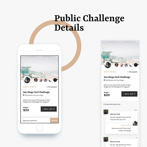 Challenge app design concept