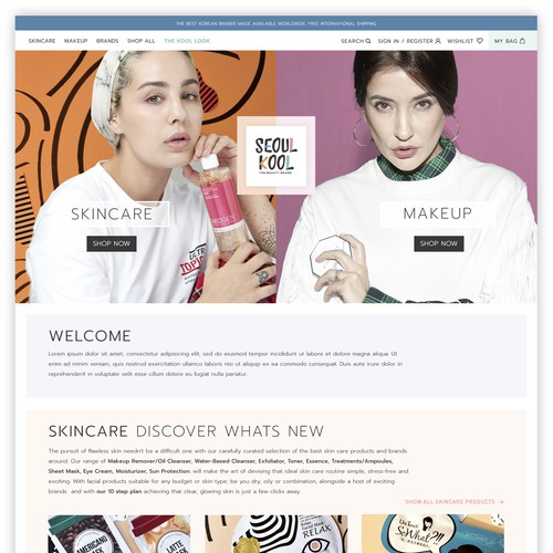 cosmetics and skincare website