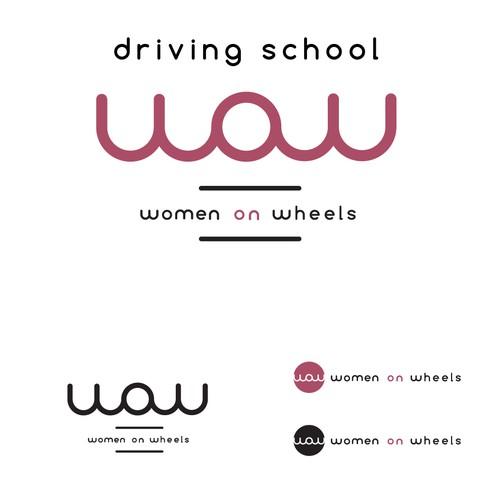 logo for drivings school
