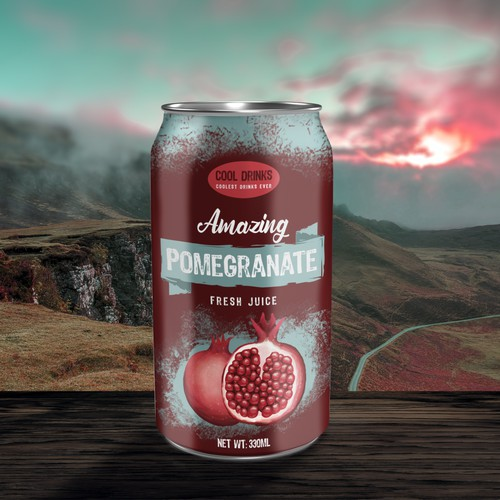 Pomegranate juice package design