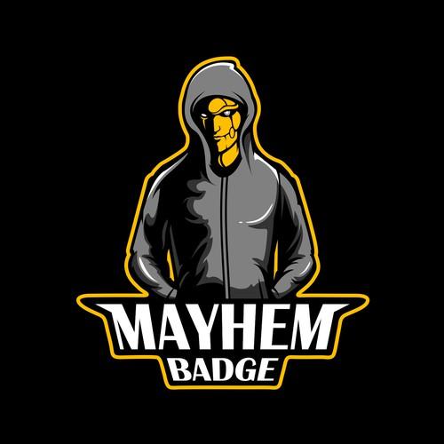 Hoodie Human Robot // Mayhem Badge