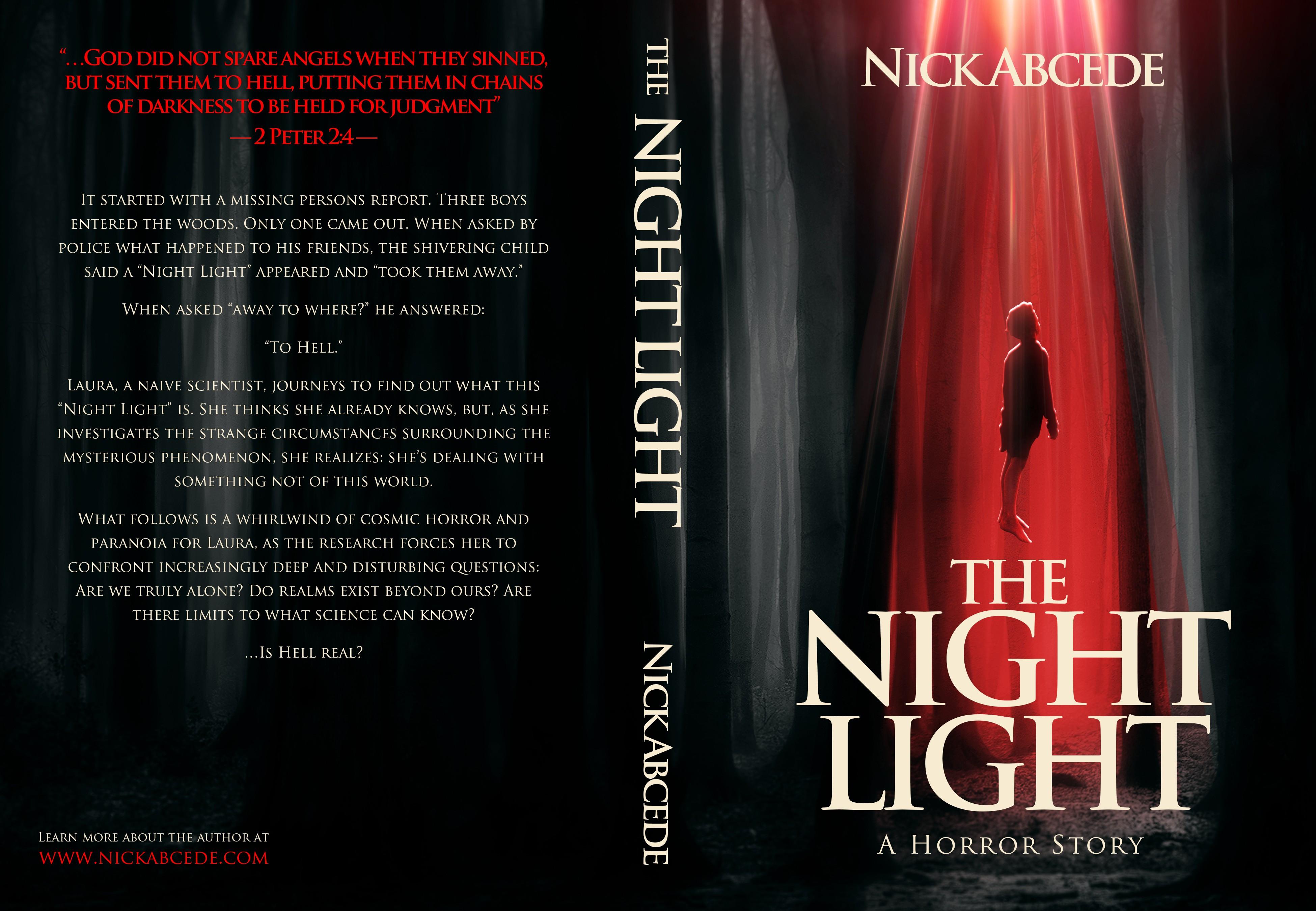 Creepy book cover for a sci-fi alien horror