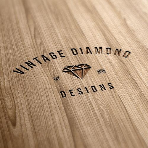 vintage logo for vintage diamond