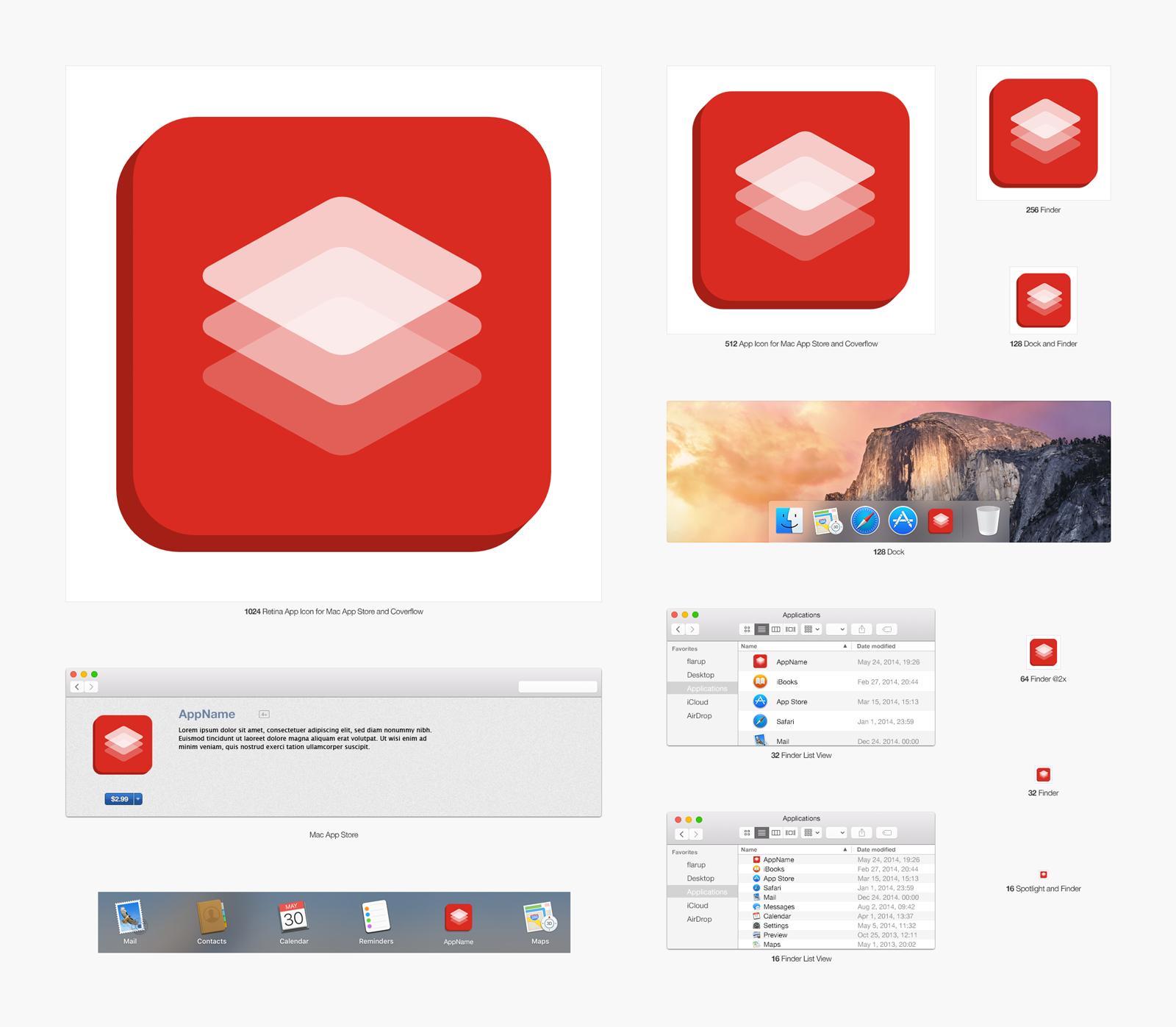 Design a minimalist icon for a Mac App.