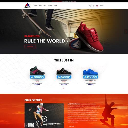 Show e-commerce site design