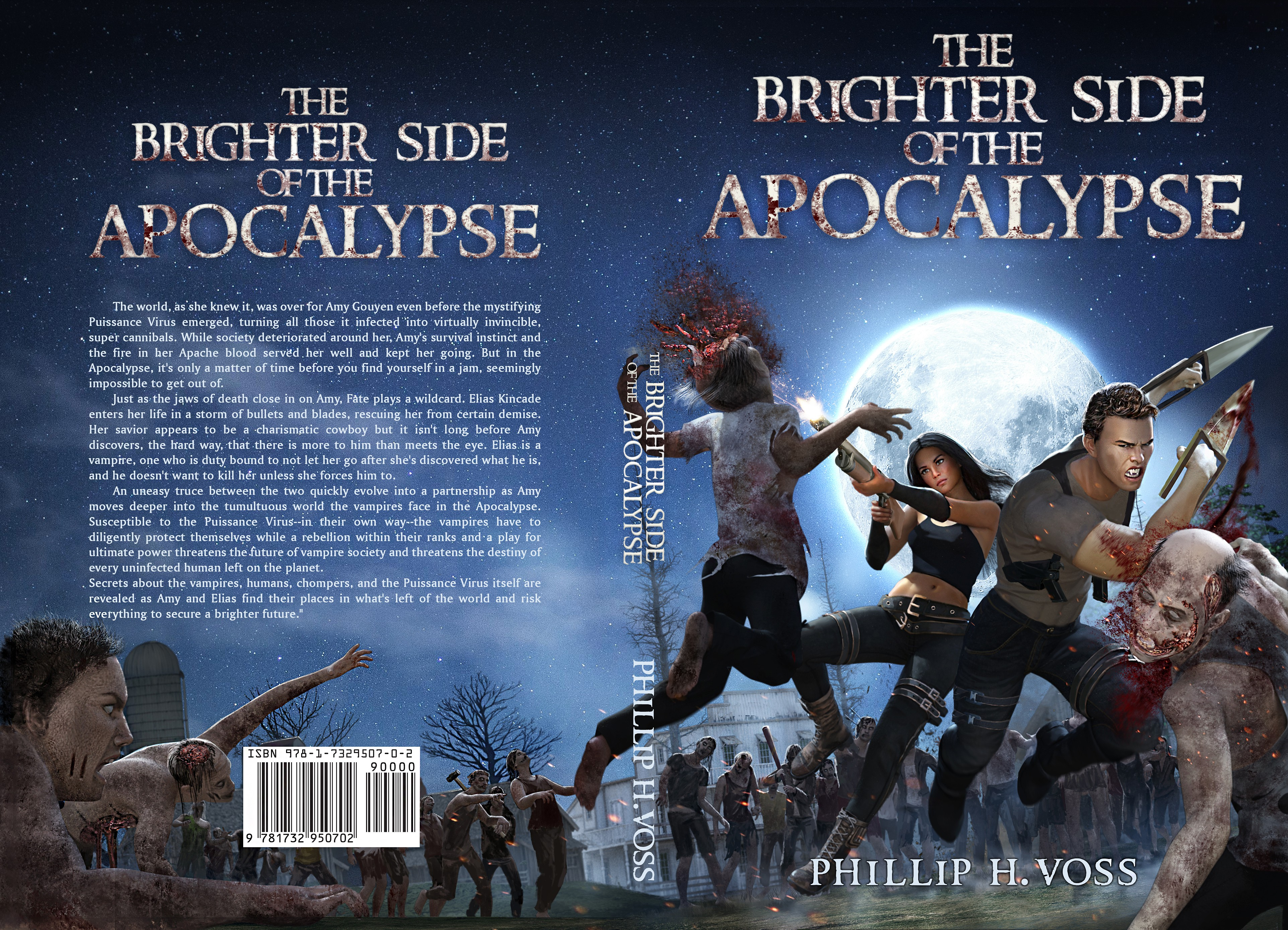 Book cover design for Vampire and Zombie filled world