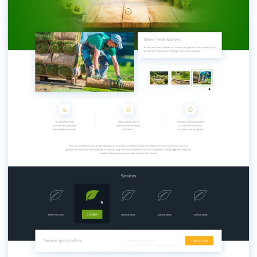 Landscaping / Garden Care - Landing page