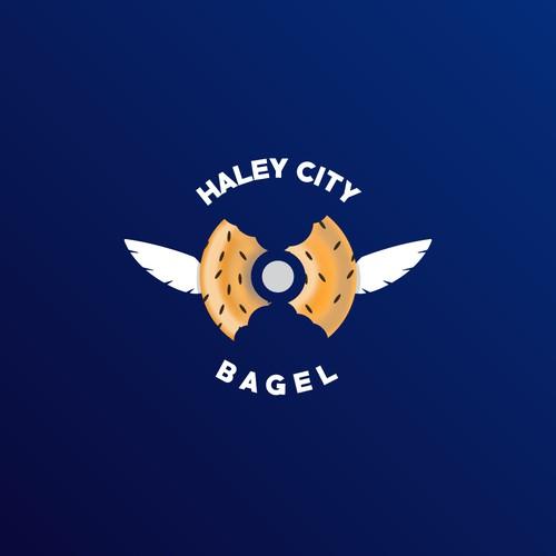 Logo concept for Holey City Bagel