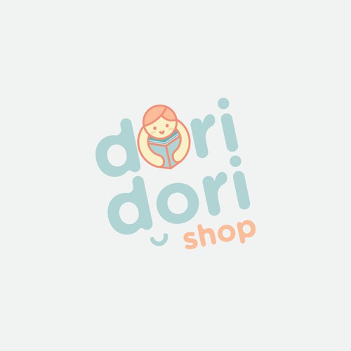 Cute learning shop logo