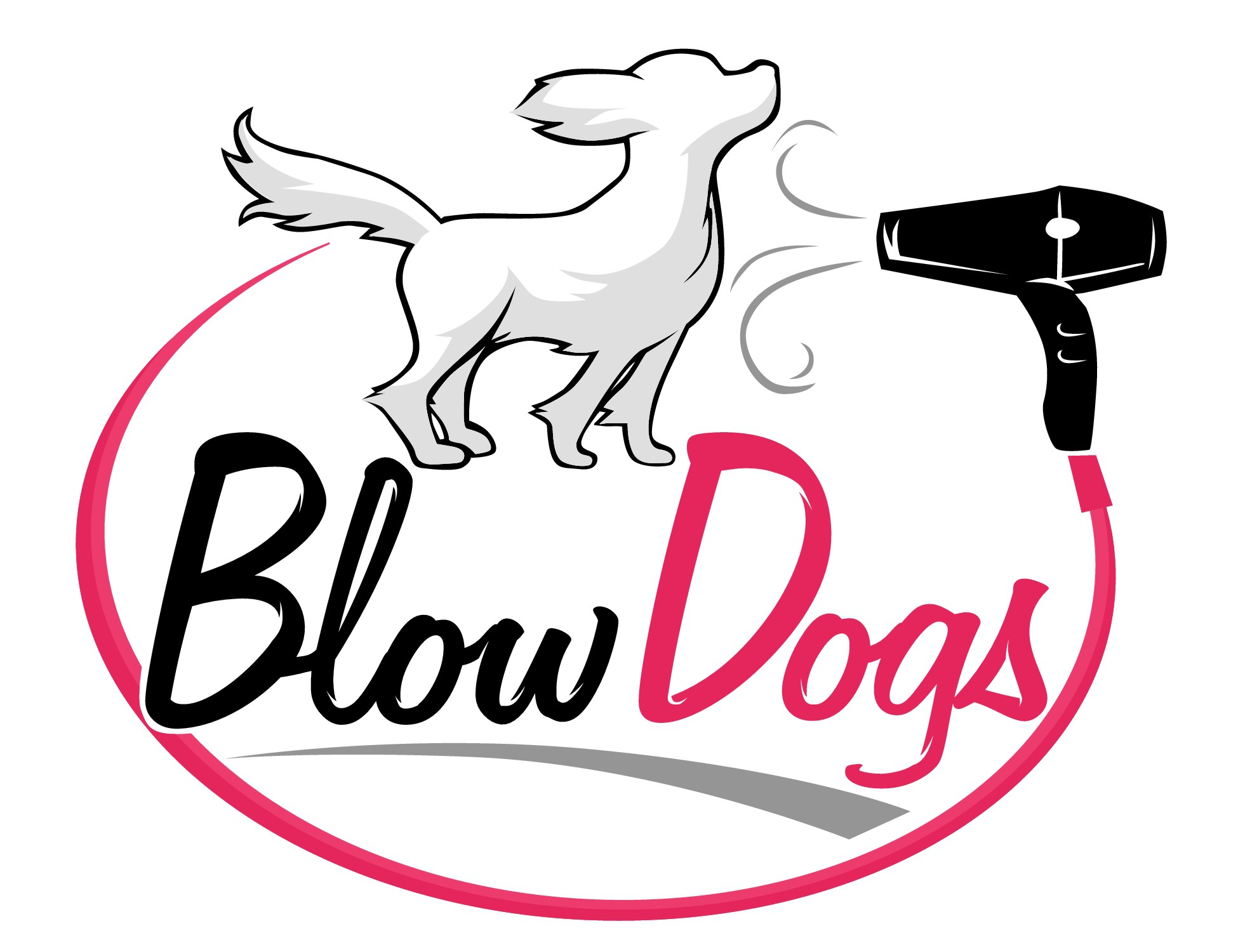 Design a catchy logo for Blow Dogs - Mobile Dog Wash!