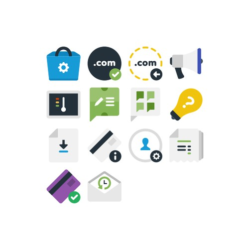 Billing Icons for web hosting control panel.
