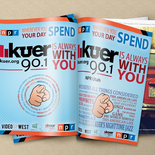 Create a bold and smart advertisement for KUER 90.1