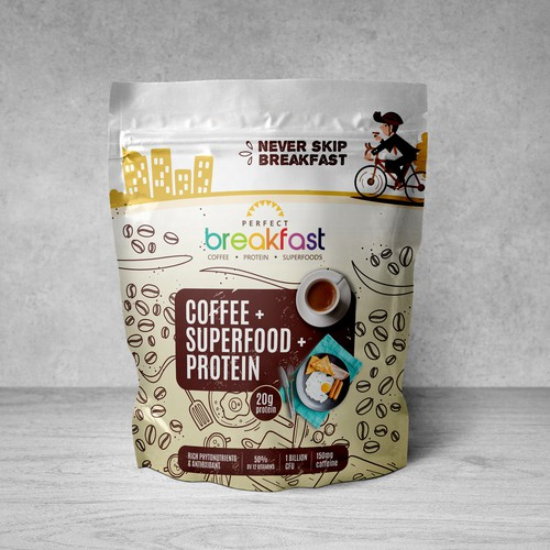 Coffee Drinks Pouch design