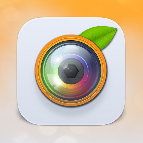 Orange for a food photo app