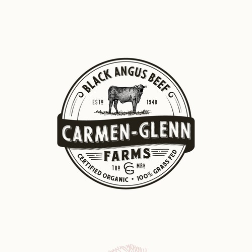 Logo for organic Black Angus Beef farm