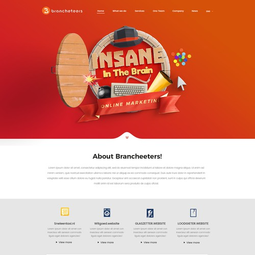 Young and Deary Website for Online Marketing Company