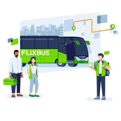 Flixbus Main Illustration