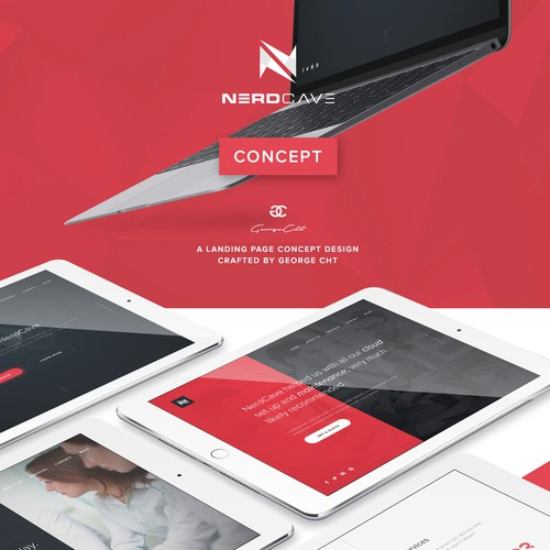 Concept homepage for a London based IT support business