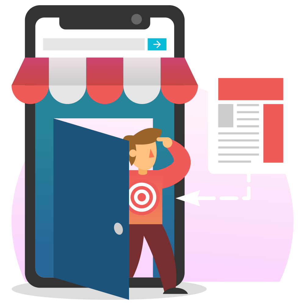 Top (hero) illustration for another long blog post (Remarketing: the Ultimate Guide)