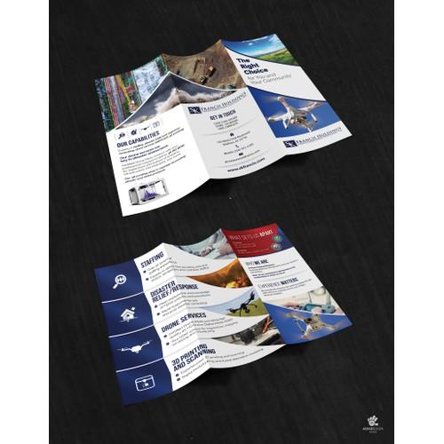 Trinity UAV Tri Fold Brochure Design