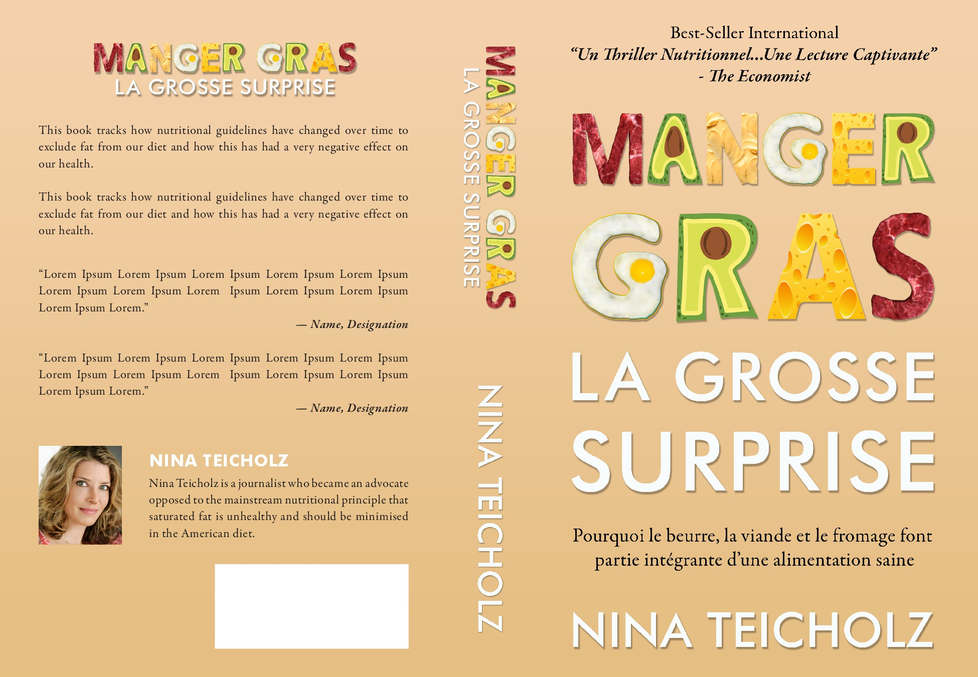 Book cover for Nina Teicholz's French translation of The Big Fat Surprise.