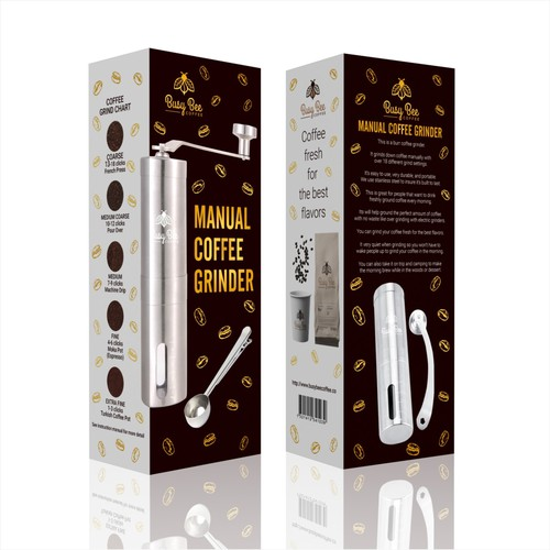 Want to make TOP selling manual coffee grinder packaging on Amazon!