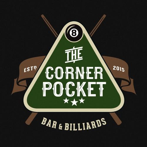 Pool Hall & Bar Logo Design