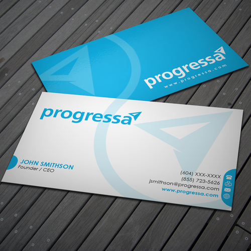 Business cards for Canadian financial institution