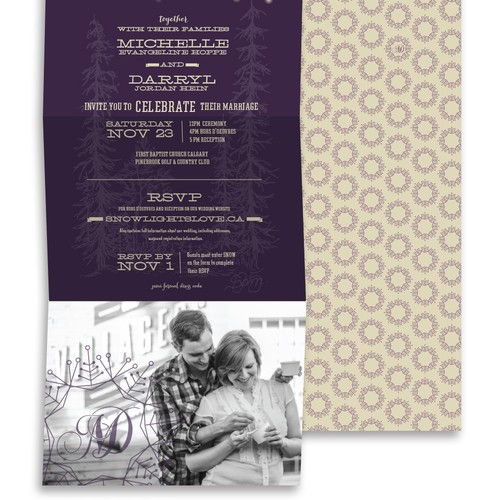 Unique Wedding Invitation for Darryl & Michelle's