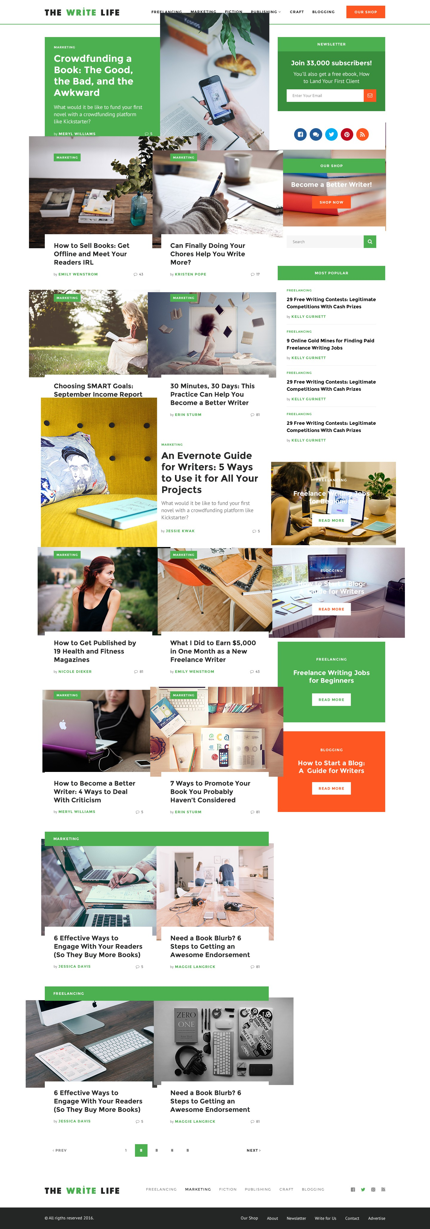 The Write Life, a popular site for writers, needs a website redesign