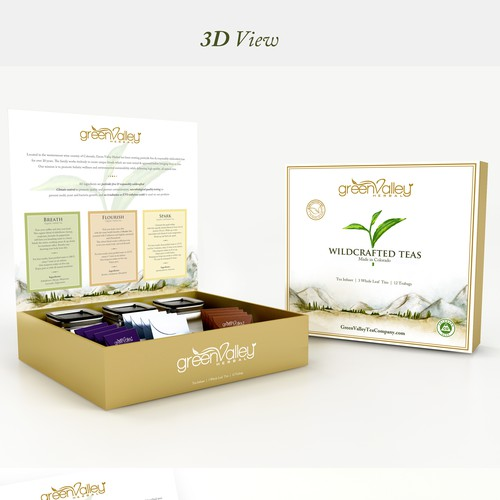 Packaging Design for Green Valley Tea Gift Set