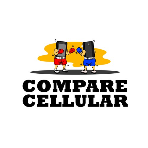 Playfull & Cartoonish Logo for Comapre Cellular