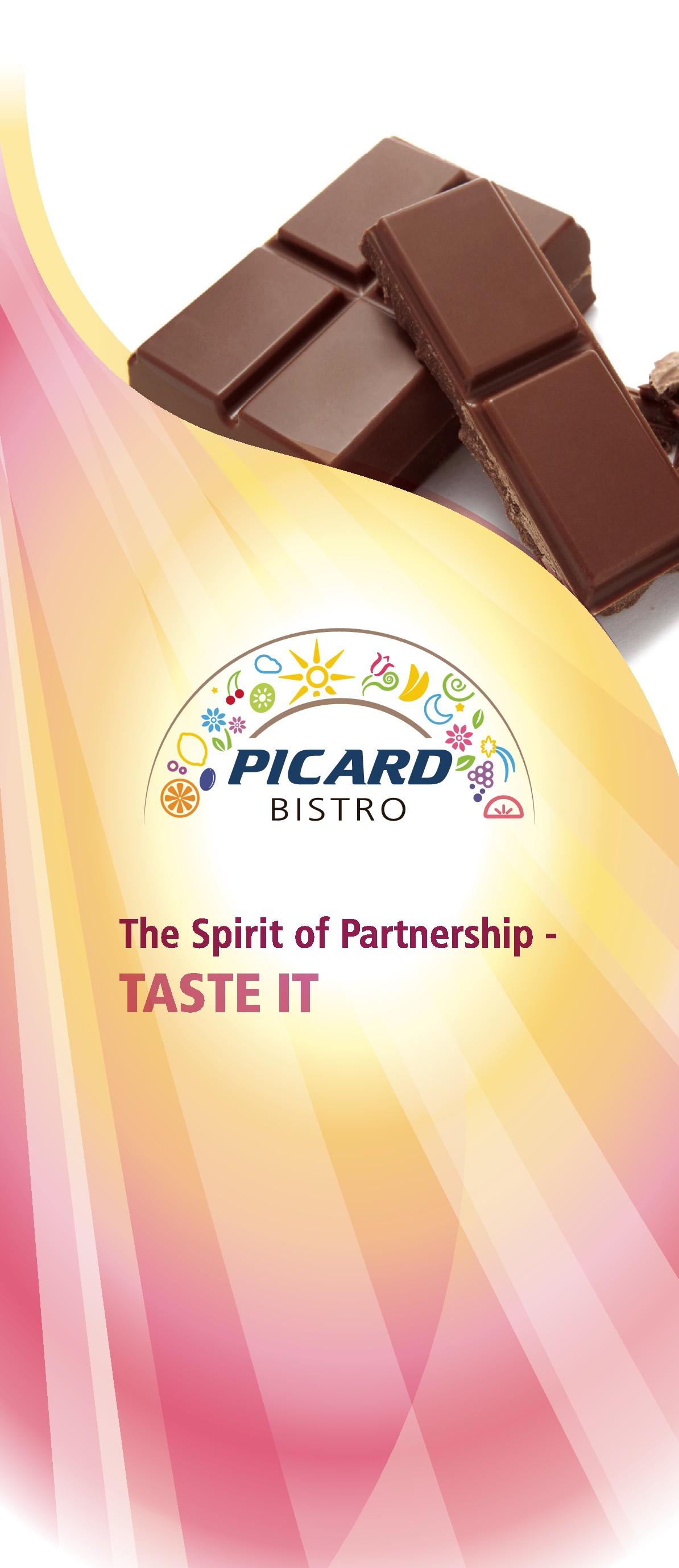 Gestaltung einer Banderole für eine Schokoladentafel Rittersport 250g mit dem PICARD BISTRO Motiv