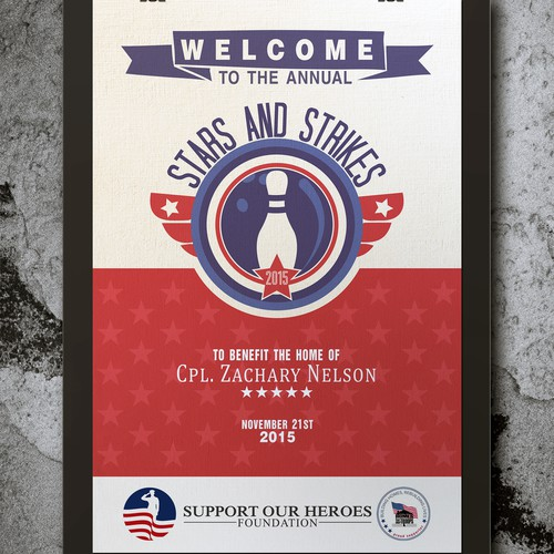 Charity Bowling Event Poster