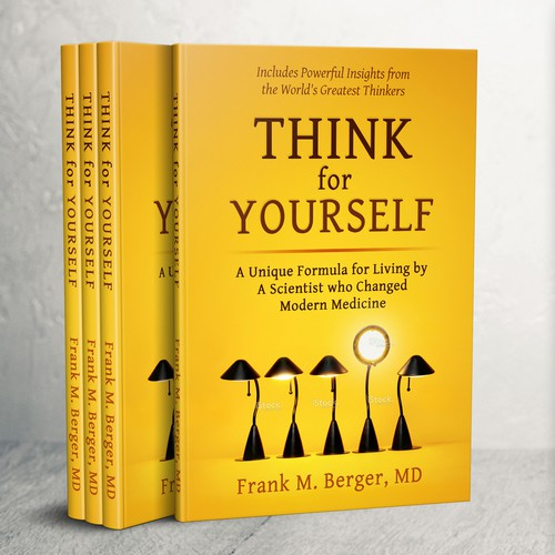 Thoughtful, simple book cover