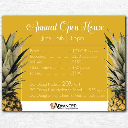 Advanced Annual Open House Sheet