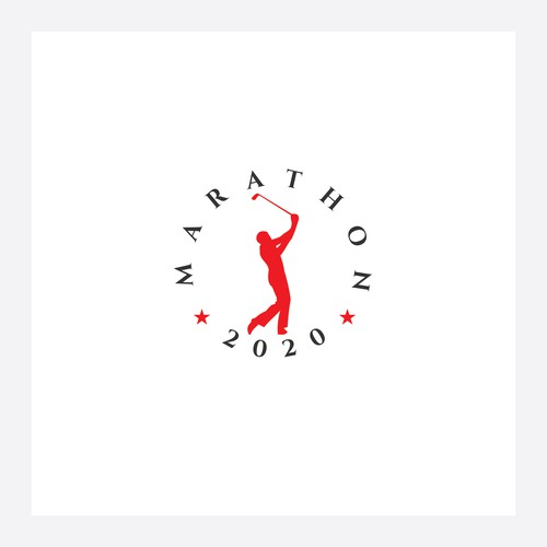 "Golf Tournament Logo ""Marathon"""