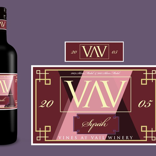 Vines at Vail Winery-labels for bottles