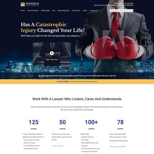 Hatfield Law Office Webdesign