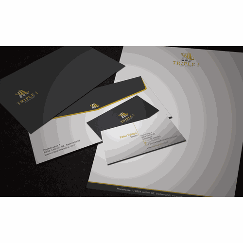 Create the next stationery for Triple i Advisors